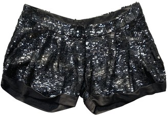 Elisabetta Franchi Black Glitter Shorts for Women