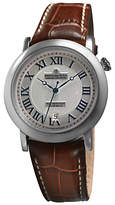 Dreyfuss & Co Dgs00030/21 1925 Leather Strap Watch, Brown/silver