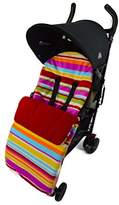 Fleece Footmuff/Cosy Toes Compatible with Buggy Pushchair Candy Red