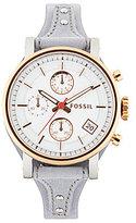 Fossil Original Boyfriend Sport Chronograph & Date Leather-Strap Watch