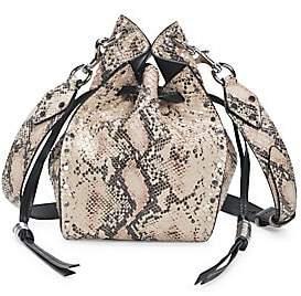Isabel Marant Women's Radja Python-Embossed Leather Bucket Bag