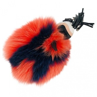 Fendi Pompon Karl Blue Fur Bag charms
