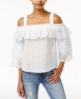 Endless Rose Cotton Cold-Shoulder Top