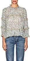Etoile Isabel Marant Women's Moxley Floral Cotton Voile Top