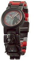 Lego Star Wars The Last Jedi Darth Vader Kids Minifigure Link Buildable Watch | black/red| plastic | 28mm case diameter| analogue quartz | boy girl | official