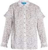 MiH Jeans Baylis floral-print cotton-voile shirt