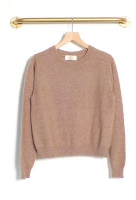 Le Mont St Michel Santia Angora Sweater Beige - XS | nylon | Angora wool | beige - Beige