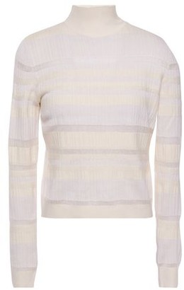 Proenza Schouler Striped Ribbed-knit Turtleneck Sweater