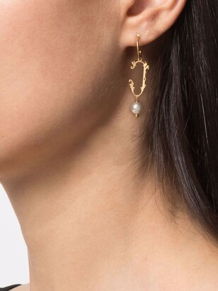 Simone Rocha J initial-pendant single earring
