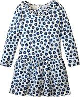 Petit Bateau Floral Dress W/Ruffle Collar (Baby) - Blue/White - 24 Months