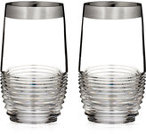 Waterford Mixology Mad Men Edition Circon HiBall with Platinum Band, Pair