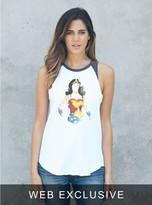 Junk Food Clothing Wonder Woman Watercolor Raglan Tank