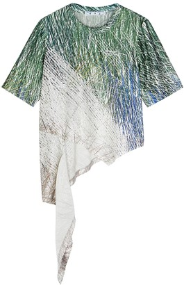 Off-White Bouroullec Spiral printed satin top