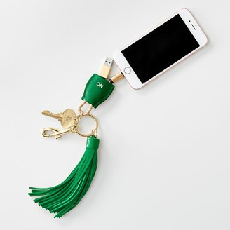Mark And Graham Power Up Lightning to USB Tassel Keychain