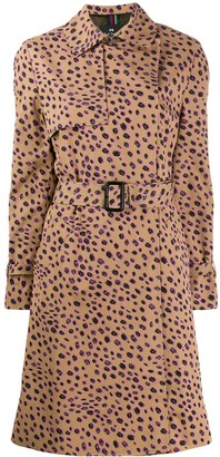 Paul Smith Cheetah Print Trench Coat