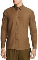Ovadia & Sons Cotton Military Slim Fit Button Down Shirt