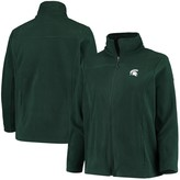 Columbia Unbranded Women's Green Michigan State Spartans Plus Size Give & Go II Fleece Full-Zip Jacket