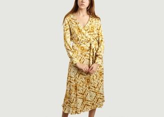 Diega - Printed Reala Wrap Dress - L