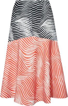 Ted Baker Canddra Contrast Panelled Midi Skirt