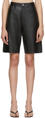Georgia Alice Black Leather Margot Shorts
