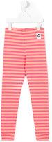 Mini Rodini striped leggings - kids - Organic Cotton/Spandex/Elastane - 3 yrs