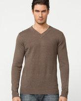 Le Château Linen V-Neck Sweater
