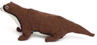 Loewe Otter Knitted Cross-body Bag - Womens - Brown Multi