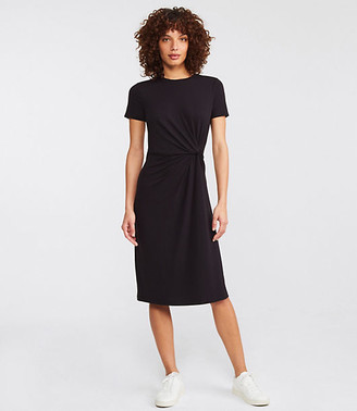 Lou & Grey Signaturesoft Jersey Twist Midi Dress