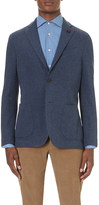 Lardini Regular-fit single-breasted cotton jacket