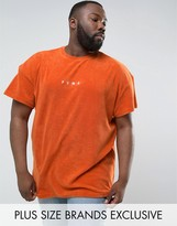 Puma Plus Towelling T-shirt In Orange Exclusive To Asos 57533303
