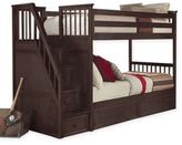 Hillsdale Kids and Teen Hillside Kids and Teen School House Twin over Twin Stairway Bunk Bed in Chocolate