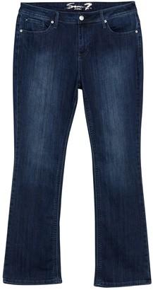 Seven7 Mid Rise Rocker Slim Boot Jeans (Plus Size)