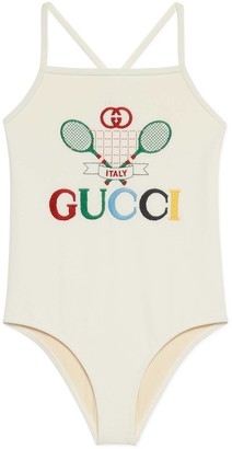 Gucci Children's swimsuit with Tennis
