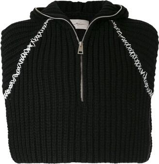 Necessity Sense Jai Cropped Hooded Pullover Black