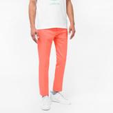 Paul Smith Men's Slim-Fit Coral Cotton-Linen Blend Chinos