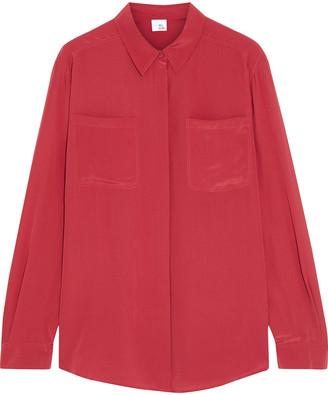 Iris & Ink Diana Silk Crepe De Chine Shirt