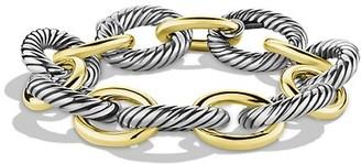 David Yurman Extra-Large Oval Link Bracelet with 18K Yellow Gold