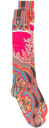 Etro Logo Paisley Embroidered Socks