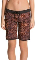 "Hurley Women's Supersuede Printed 9"" Leopard Boardshort 8128209"