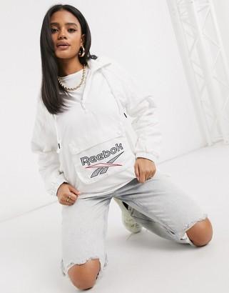 Reebok large logo over the head logo jacket in white