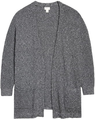 Caslon Marl Texture Open Front Cardigan