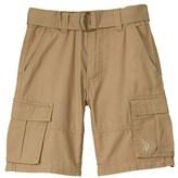 US Polo Association U.s. Polo Assn. Boys' Belted Cargo Short.