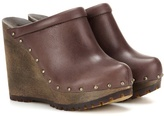 See by Chloe Leather Wedge Clogs