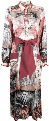 F.R.S For Restless Sleepers Mix-Print Silk Dress