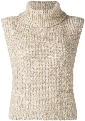 Etoile Isabel Marant Roll Neck Sleeveless Jumper