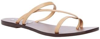 Steve Madden Janessa Flat Sandal (Gold Leather) Women's Shoes