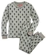 PJ Salvage Girls' Skull-Print Thermal Pajama Shirt & Pants Set - Big Kid