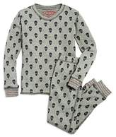 PJ Salvage Girls' Skull-Print Thermal Pajama Shirt & Pants Set - Little Kid