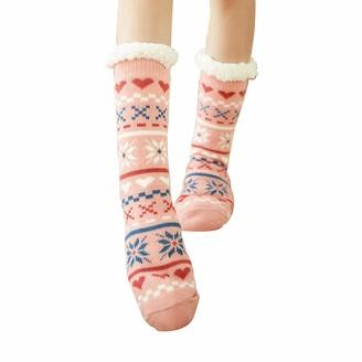 Levliong Slipper Socks Women Girls Non-Slip Home Socks Fluffy and Furry Cozy Fleece-lined Winter Slipper Sock