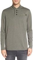 G Star Men's 'Gilik' Shawl Collar Long Sleeve T-Shirt